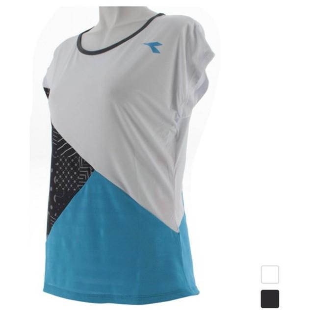 f07941d8dff985 ディアドラ レディース テニス 半袖Tシャツ W DIADRYトップ DTL8542 DIADORA