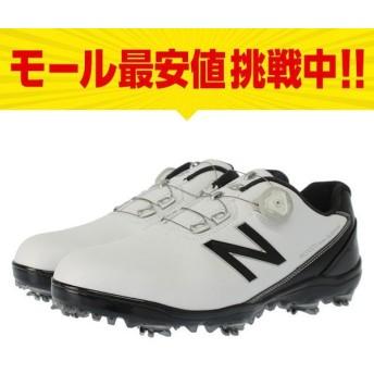 ニューバランス MG1001WB MG10012E メンズ ゴルフ ダイヤル式スパイクシューズ ホワイト×ブラック New Balance