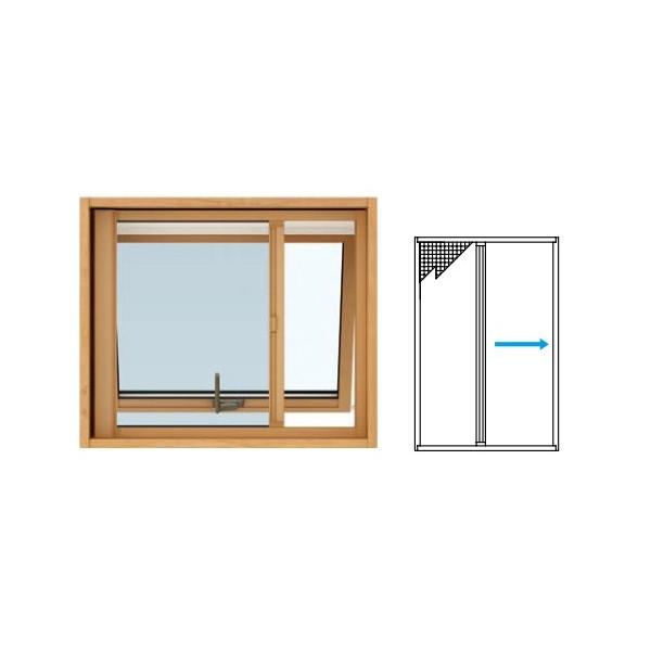 窓サッシ YKKAPオプション 装飾窓 エピソードNEO:横引きロール網戸 [すべり出し窓用]