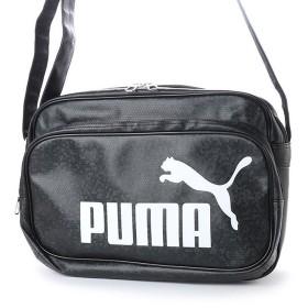 プーマ トレーニング PU ショルダー M (075370) エナメルバッグ : ブラック×ホワイト PUMA