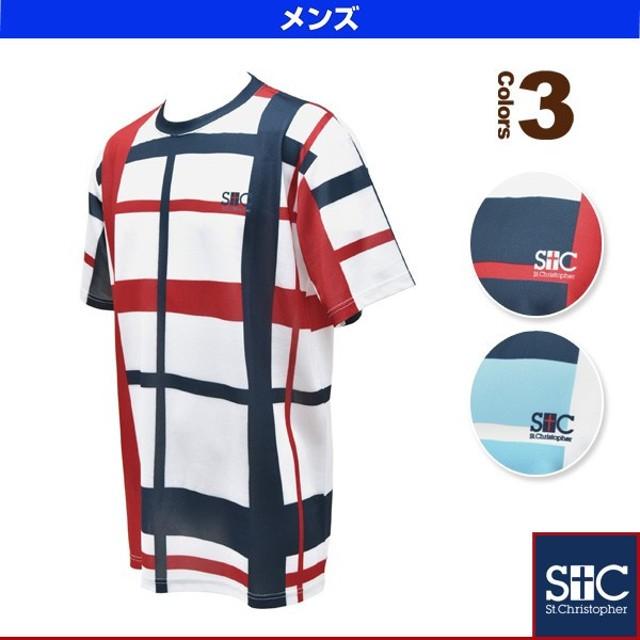 b64a47896b876 セントクリストファー テニス・バドミントンウェア(メンズ/ユニ) クロスチェックTシャツ/
