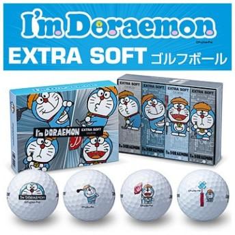 ブリヂストン日本正規品 I'm Doraemon EXTRA SOFT (アイムドラえもんエクストラソフト) ゴルフボール1ダース(12個入)
