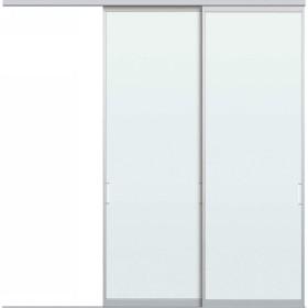 YKKAPアルミインテリア スクリーンパーティション[間仕切] 片引き戸2枚建(アルミ枠) SAタイプ:[幅1740〜2604mm×高1550〜2142mm] YKK 室内インテリア サ