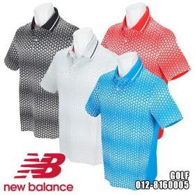 ニューバランス ゴルフ SPORT マンホールプリント グラデーション 半袖ポロシャツ メンズ 012-8160005