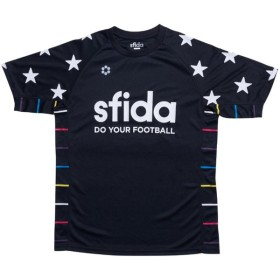 SFIDA(スフィーダ) プリントプラクティスシャツ SA17A26 BLACK BLACK XS