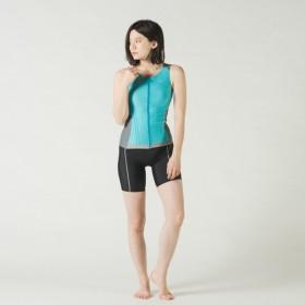 スピード レディース 水泳 フィットネス水着 セパレーツ (SD58Z17) : ターコイズブルー×シルバー SPEEDO