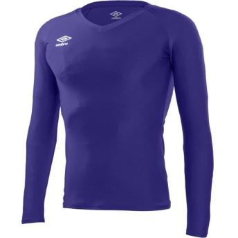 UMBRO(アンブロ) 【メンズ サッカー・フットサルウェア】 L/S パワーインナーVネックシャツ UAS9701L PPL パープル M