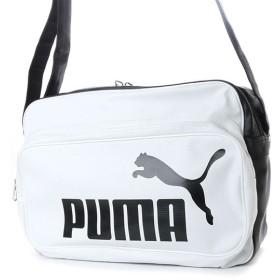 プーマ トレーニング PU ショルダー L (075371) エナメルバッグ : ホワイト×ブラック PUMA
