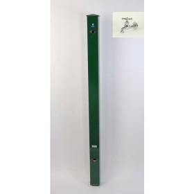カラーアルミ立水栓蛇口付 メッキング十字 グリーン GM3-AL207G