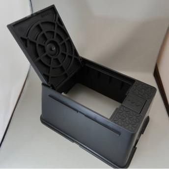 タキロン 散水栓ボックス(ホース穴部回転式) TSB-HS 黒 309400