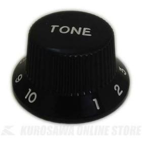 SCUD KB-240TI STタイプノブ (プッシュマウント) トーン、インチサイズ カラー:ブラック/文字色:ホワイト