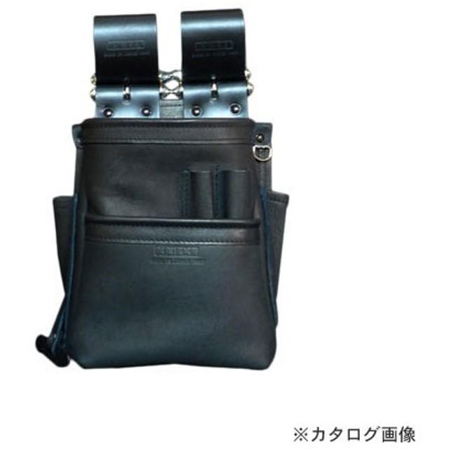 ニックス KNICKS KB-201SPDX 自在型チェーンタイプ総グローブ革2段腰袋 ブラック