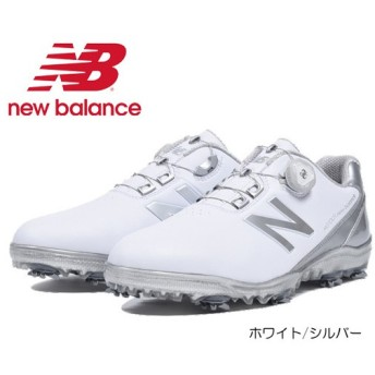 (セール)new balance GOLF ニューバランス ゴルフシューズ (MG1001)ホワイト/シルバー