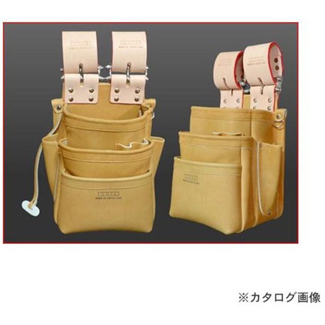 ニックス KNICKS 自在型チェーンタイプ 総グローブ革3段腰袋 KN-301SPDX