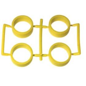【ネコポス対応】イーグル(EAGLE)/MINI4-RT02-YE/SP中径レーシングタイヤ内径20.5mm2.0mm厚:ミニ4(イエロー)