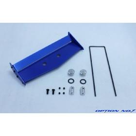 【あすつく】【ネコポス対応】OPTION No.1(オプションNo.1)/NO-133BL/アルミ製リヤウイングセット(オフロードカー用/角度調整機能付)ブルー