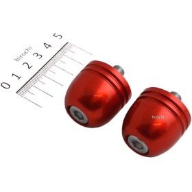 【メーカー在庫あり】 HB0332R ハリケーン アルミ削り出しサイドキャップ レッド Φ7/8インチハンドル用 HD店