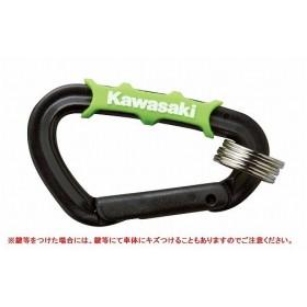 グリップカラビナキーホルダー(樹脂)ブラック KAWASAKI(カワサキ)