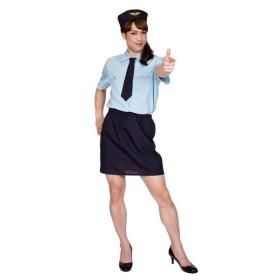コスプレ衣装/コスチューム 〔ドキドキポリスMAN〕 帽子 シャツ ネクタイ スカート付き 『女装MAN』 〔ハロウィン〕