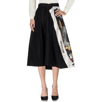 《セール開催中》PRADA レディース 7分丈スカート ブラック 40 シルク 100%