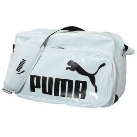 PUMA(プーマ)スポーツアクセサリー エナメルバッグ エナメルバッグ TSシャイニー タイプB ショルダー L 072401 02 WHT/BLK ユニセックス