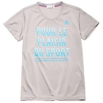 (セール)le coq sportif(ルコックスポルティフ) レディーススポーツウェア Tシャツ 半袖シャツ QMWLJA17 レディース PGY