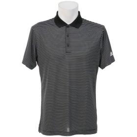 (セール)adidas(アディダス)ゴルフ 半袖ポロ 半袖ハイネック 2カラーストライプポロ LCD86-BC2155 メンズ BLACK/WHITE