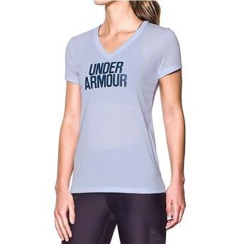 (セール)UNDER ARMOUR(アンダーアーマー)レディーススポーツウェア Tシャツ UA THREADBORNE TRAIN WM V TIWST 1290608 レディース LAVENDER ICE/BLACK...