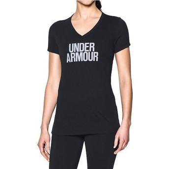 (セール)UNDER ARMOUR(アンダーアーマー)レディーススポーツウェア Tシャツ UA THREADBORNE TRAIN WM V SOLID 1290607 レディース BLACK/LAVENDER ICE...
