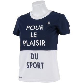 le coq sportif(ルコックスポルティフ) レディーススポーツウェア Tシャツ 半袖シャツ QB-015451 レディース NVY