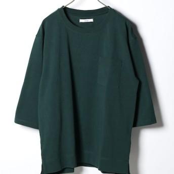 JOURNAL STANDARD relume 20//空紡天竺ヘビーオンス 7分袖Tシャツ グリーン S
