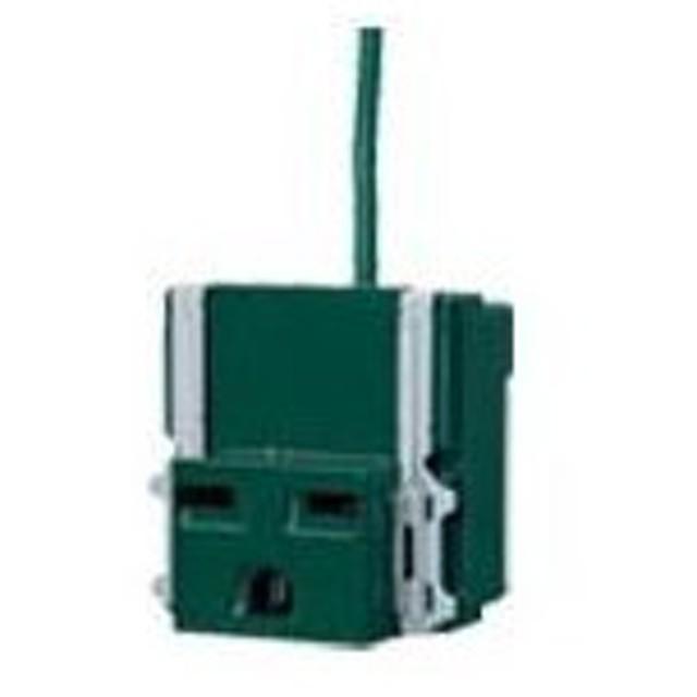 ###パナソニック 配線器具【WN11122G1】フルカラー15A埋込接地コンセント(250V)(接地リード線付)(緑)(接地送り端子なし) 受注約30日