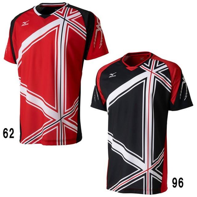 ミズノ ゲームシャツ 日本ユニシスモデル  72MA7004 メンズ 2017SS バドミントン テニス ソフトテニス ウエア  ゆうパケット(メール便)対応  m2off