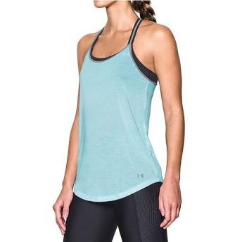 (セール)UNDER ARMOUR(アンダーアーマー)レディーススポーツウェア Tシャツ UA THREADBORNE TRAIN STRAP TANK 1290054 レディース SKYLIGHT/STEEL