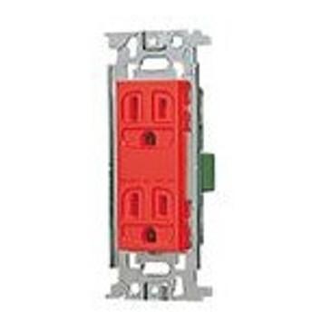 パナソニック 配線器具【WN1512RK】フルカラー埋込接地ダブルコンセント(赤)