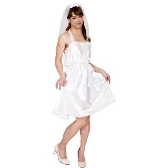 コスプレ衣装/コスチューム 〔ゆるふわ花嫁MAN〕 ベール ワンピース付き 『女装MAN』 〔ハロウィン〕