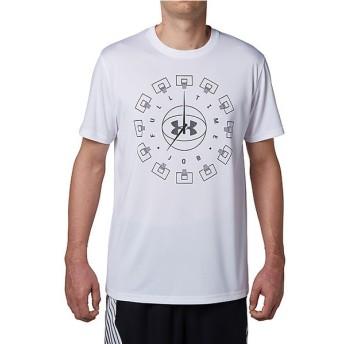 (セール)UNDER ARMOUR(アンダーアーマー)バスケットボール メンズ 半袖Tシャツ 18S UA TECH ROUND THE CLOCK 1313540 110 メンズ WHT/BLK