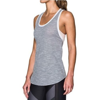 (セール)UNDER ARMOUR(アンダーアーマー)レディーススポーツウェア Tシャツ UA FASHLETE TANK 1290283 レディース TRUE GRAY HEATHER/WHITE/STEEL
