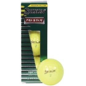 SRIXON(スリクソン)ゴルフ ボール SRIXON TRI-STAR2 YEL(3)SN TRS2 YEL L3 メンズ プレミアムパッションイエロー