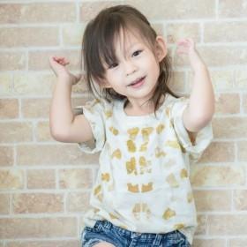 子供用Tシャツ(M) - オニオンスキンプラントの印刷と染色、コットンTシャツ。