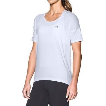 (セール)UNDER ARMOUR(アンダーアーマー)レディーススポーツウェア Tシャツ UA ARMOUR SPORT SS 1292296 レディース WHITE/WHITE/GRAPHITE