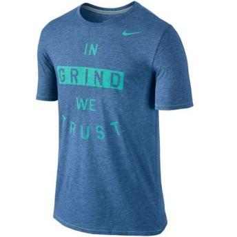 (セール)NIKE(ナイキ)メンズスポーツウェア 半袖機能Tシャツ DRI-BLEND トラスト グラインド Tシャツ 658541-456 メンズ ライトゲームロイヤルヘザー/...