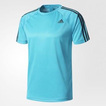 (セール)adidas(アディダス)メンズスポーツウェア 半袖機能Tシャツ D2M トレーニング3ストライプスTシャツ BVA80 BK0967 メンズ エナジーブルー S17