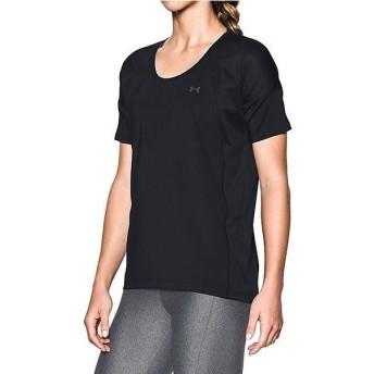 (セール)UNDER ARMOUR(アンダーアーマー)レディーススポーツウェア Tシャツ UA ARMOUR SPORT SS 1292296 レディース BLACK/BLACK/GRAPHITE