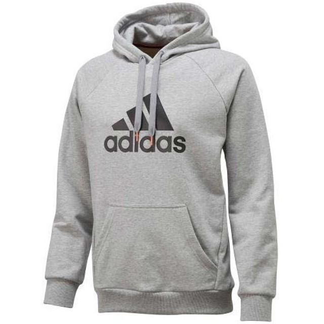 adidas(アディダス)メンズスポーツウェア スウェットパーカー ESS スウェットパーカー ビッグロゴ WJ071 F42250 メンズ GRAY/BLACK