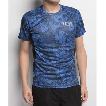 (セール)Number(ナンバー)ランニング メンズ半袖Tシャツ プリント半袖Tシャツ NB-S18-302-009 メンズ アーバンツリーブルー