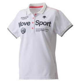 (送料無料)DESCENTE(デサント)レディーススポーツウェア ポロシャツ タフポロライト DAT-4722W WHT レディース WHT