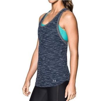 (セール)UNDER ARMOUR(アンダーアーマー)レディーススポーツウェア Tシャツ UA FASHLETE TANK 1290283 レディース MIDNIGHT NAVY/CARBON HEATHER/STEEL