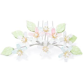 ヘアアクセサリー全般 - SOUBIEN 簪(かんざし) 白 ホワイト ピンク 水色 緑 桜 フェイクパール カジュアル フォーマル 髪飾り ヘアアクセサリー 日本製