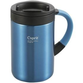 CAPTAIN STAG(キャプテンスタッグ) シーエスプリ ダブルステンレスマグカップ350(ライトブルー) M5378